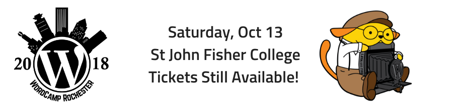 WordCamp Rochester Oct 13 St John Fisher College